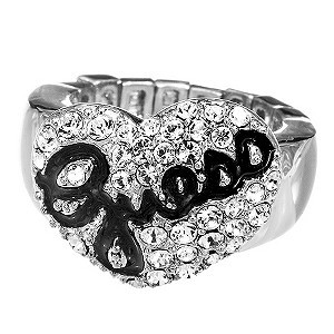 quality design 240b2 31a77 Guess Pave Heart Ring